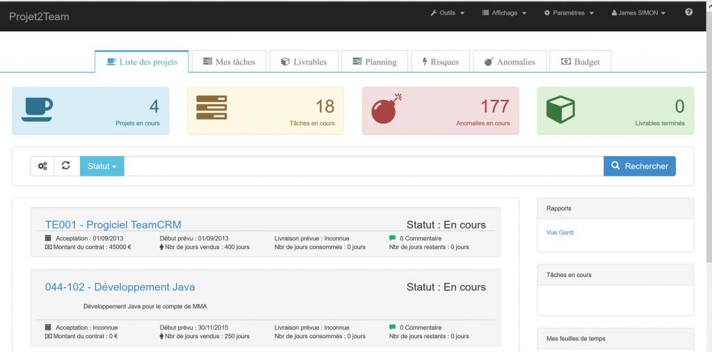 TeamProjet - logiciel de gestion de projet