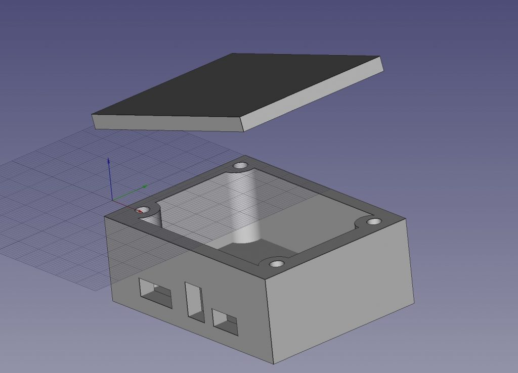 Freecad chargeur solaire