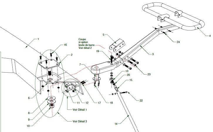 Plan montage barre