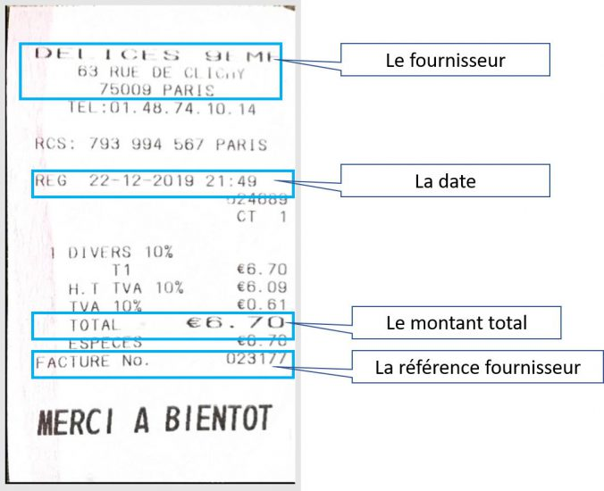 Digitalisation ticket note de frais